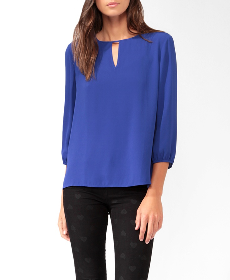 Cutout Front Blouse | FOREVER21 - 2025100665