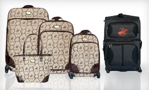 Groupon - Beverly Hills Polo Club Four-Piece Luggage Sets (Up to 77% Off). Two Options Available. Free Shipping and Free Returns. in Online Deal. Groupon deal price: $239.00