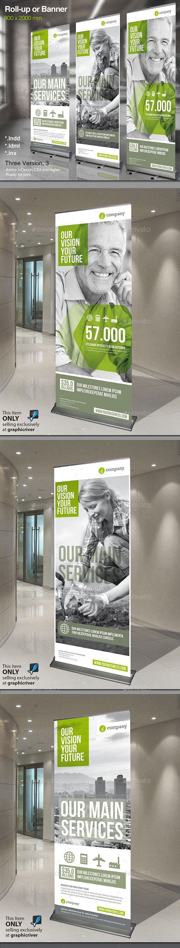 Corporate Roll-up or Banner - Signage Print Templates