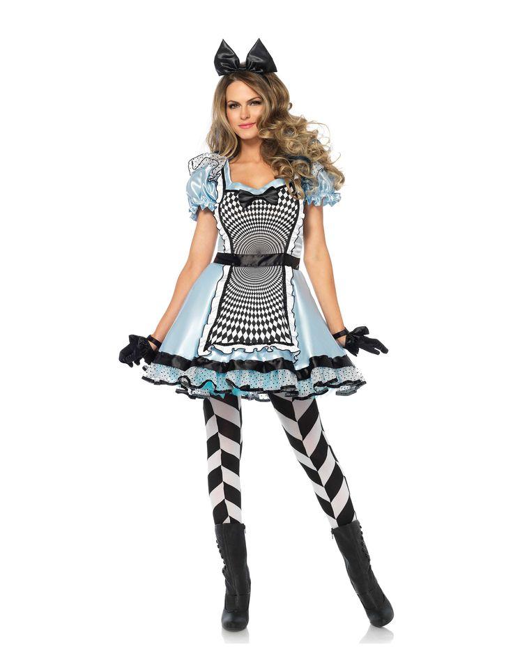 Blauwe psychedelische droomjurk voor dames : Dit kostuum voor vrouwen bestaat uit een jurk en een haarband (panty's, handschoenen en schoenen niet meegeleverd). De jurk is kort en is van een satijnachtige lichtblauwe stof. Deze is...
