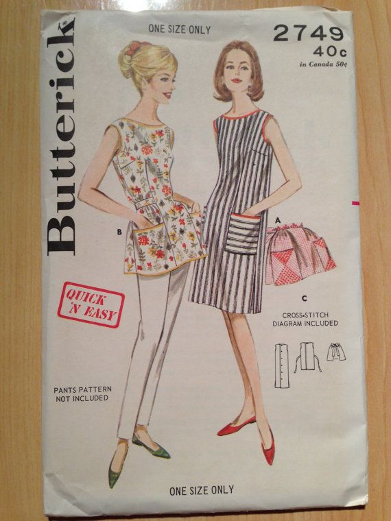 Butterick Pattern Misses Quick 'N Easy Apron 1950s UNCUT