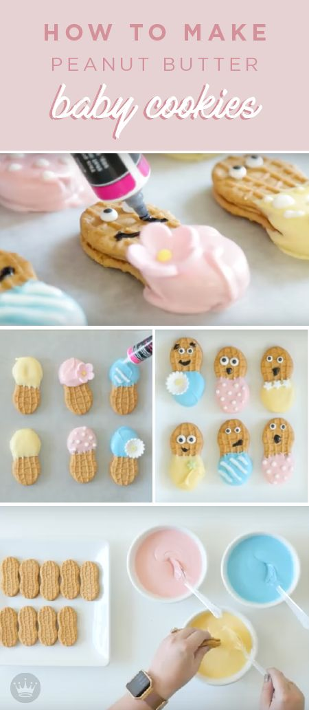 Baby shower snacks don't have to be boring. This recipe will teach you how to make crazy cute shower snacks to pair with awesome gifts from Hallmark. Learn how to make these Peanut Butter Baby Cookies just in time for the celebration.
