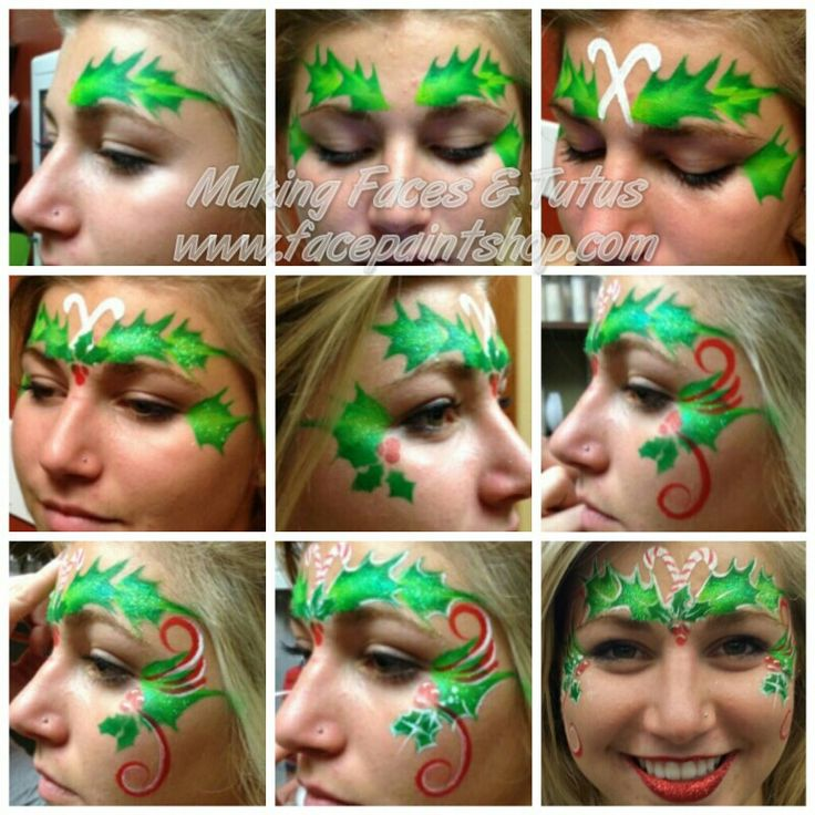 Holly Fairy face paint tutorial by Making Faces & Tutus. Products by www.facepaintshop.com
