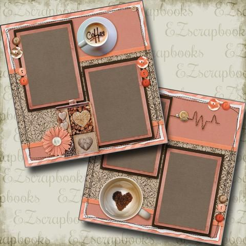 EZ Layout 120 2 Premade Scrapbook Pages SWEATER WEATHER