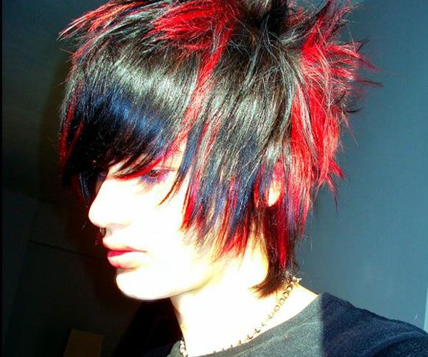 Red Black Emo Guy Hair 35 Magnificent Emo Hairstyles For