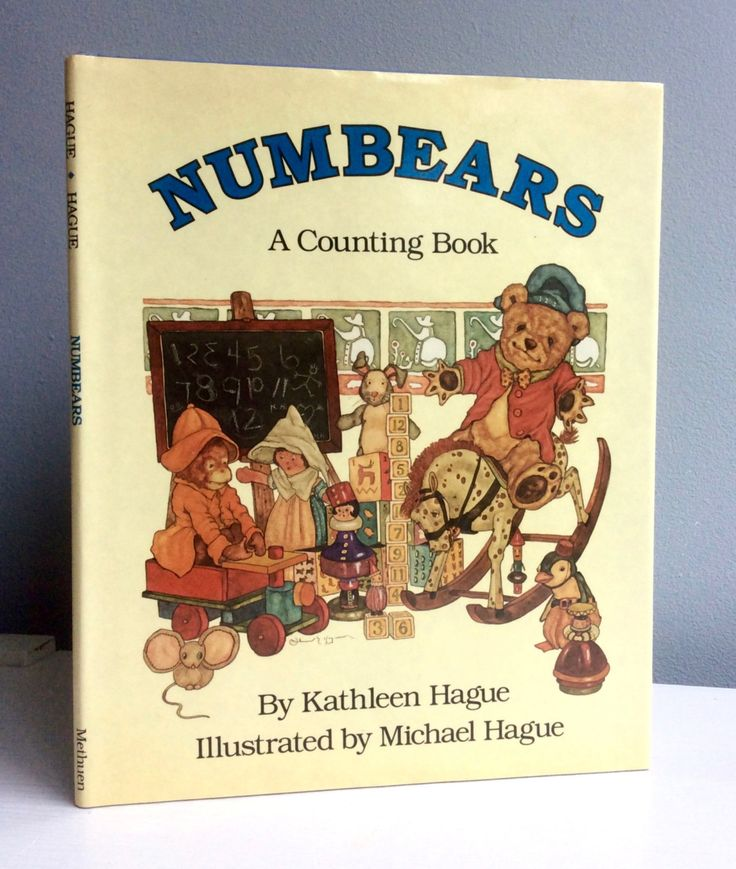 Numbears, a counting book. A vintage children's book by Kathleen and Michael Hague door lalinia op Etsy