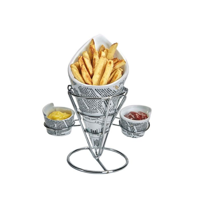 Diner Style French Fry Server