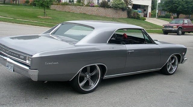 Look at those rims! 66 Chevelle