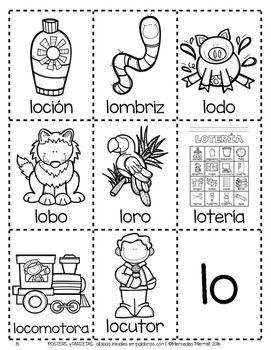POSTERS y TARJETAS de sílabas iniciales en palabras con l
