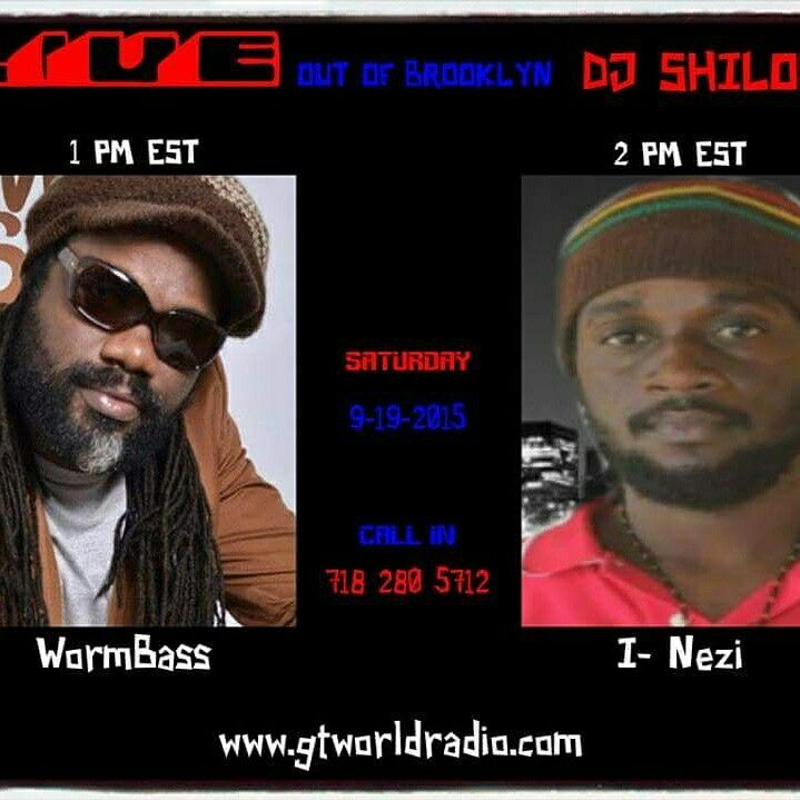 This Saturday Sept. 19th tune into  the DJ Shiloh show on GTworldradio Station at 1 PM EST for an interview with legendary bass player, turned singer, Wormbass. DJ Shiloh will be talking to Delroy WormBass about his new CD and listening  to some of his music that will be coming out on the new CD 'Reggaeman'. Don't miss the show!  WORMBASS - ONLY YOU     https://youtu.be/_wxS02I_GCE