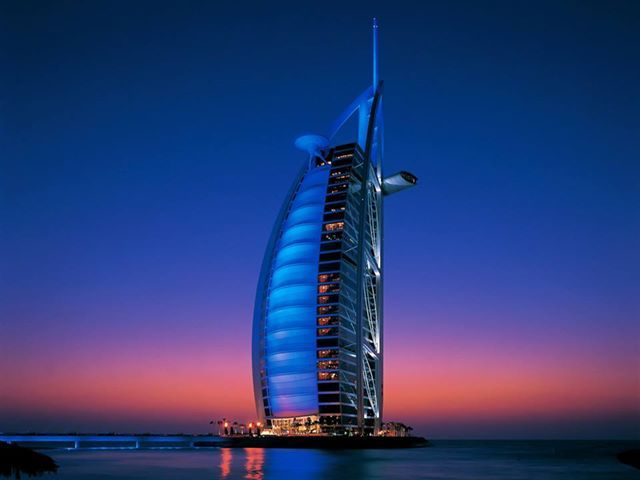 Burj Al Arab in ‪Dubai is one of the most ‪beautiful ‪architectures in the world. It is the world's ‪‎tallest structure and the world's tallest ‪hotel.