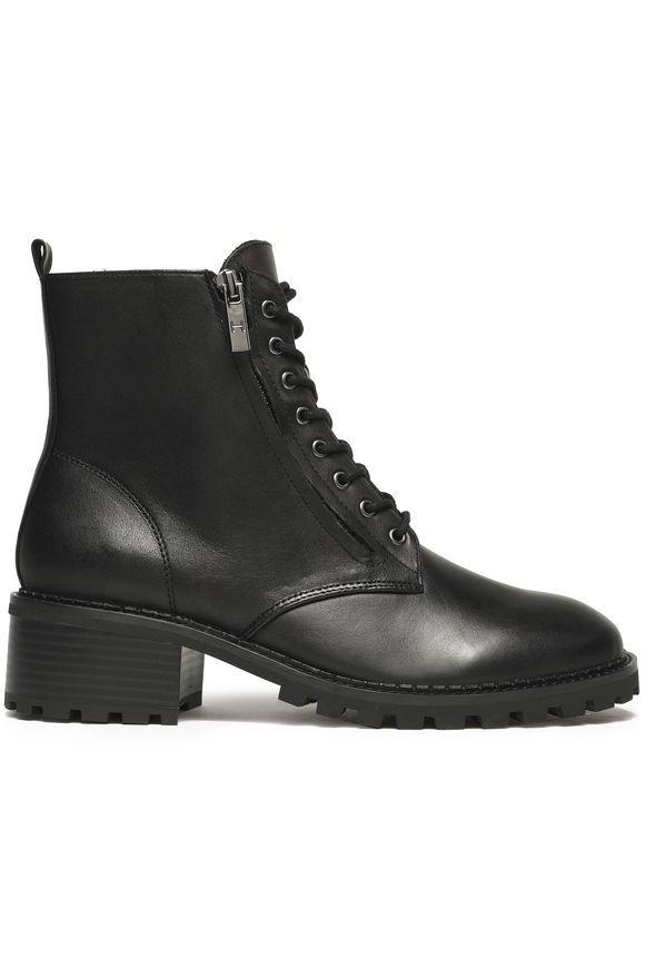 Black Lois leather ankle boots   Sale