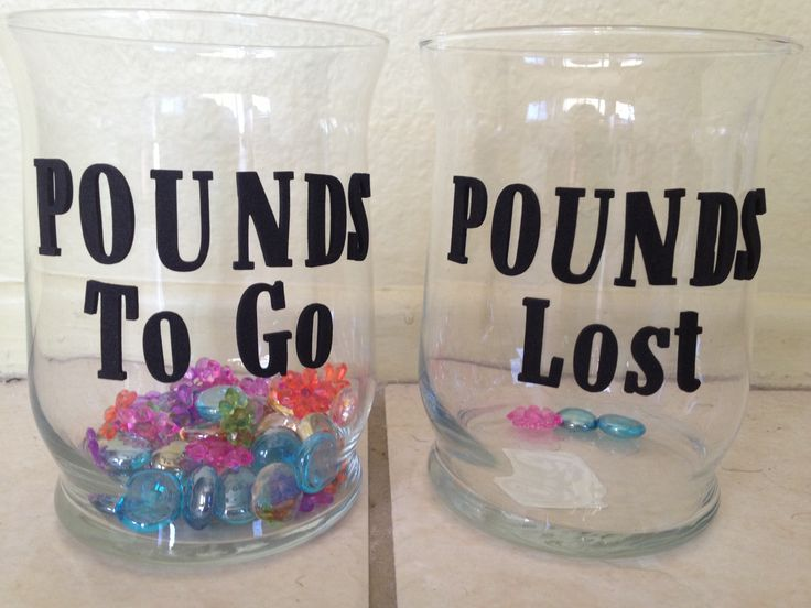 Visual motivation to lose weight. Just use a couple jars, beads, and stickers. Cool idea - seems helpful!