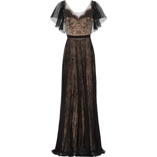 Notte by Marchesa Lace and pleated tulle gown and other apparel, accessories and trends. Browse and shop 16 related looks.