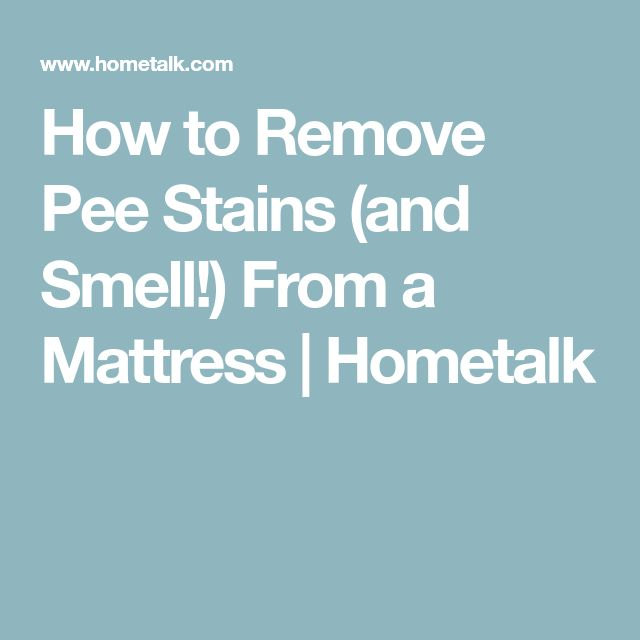 how to get urine smell out of mattress with borax