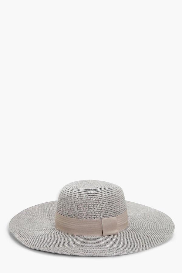 boohoo Clara Wide Brim Floppy Straw Hat