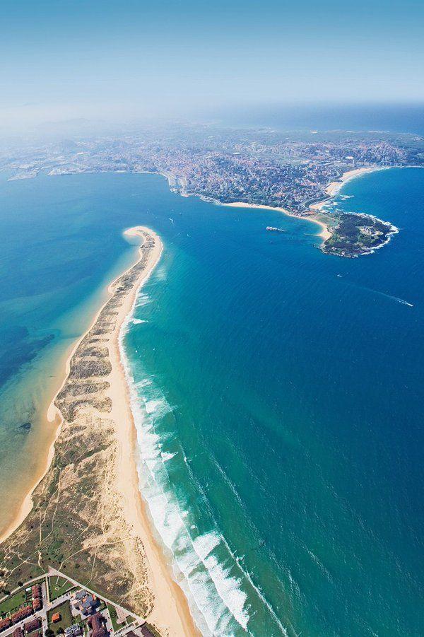 El puntal con la península de la Magdalena y  #Santander al fondo. Precioso :) #Cantabria #Spain