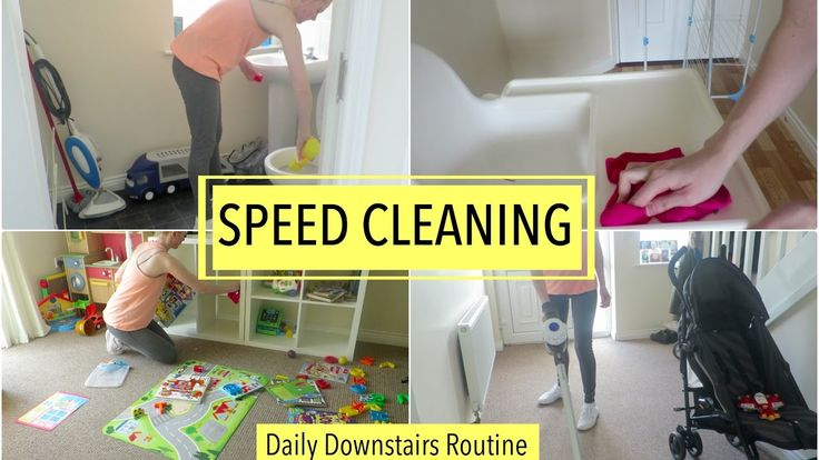 SPEED CLEANING | DAILY CLEANING ROUTINE - DOWNSTAIRS