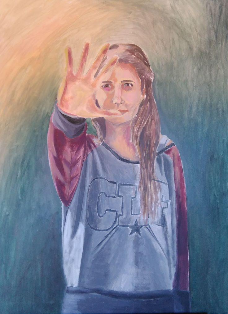 Óleo sobre lienzo, autorretrato