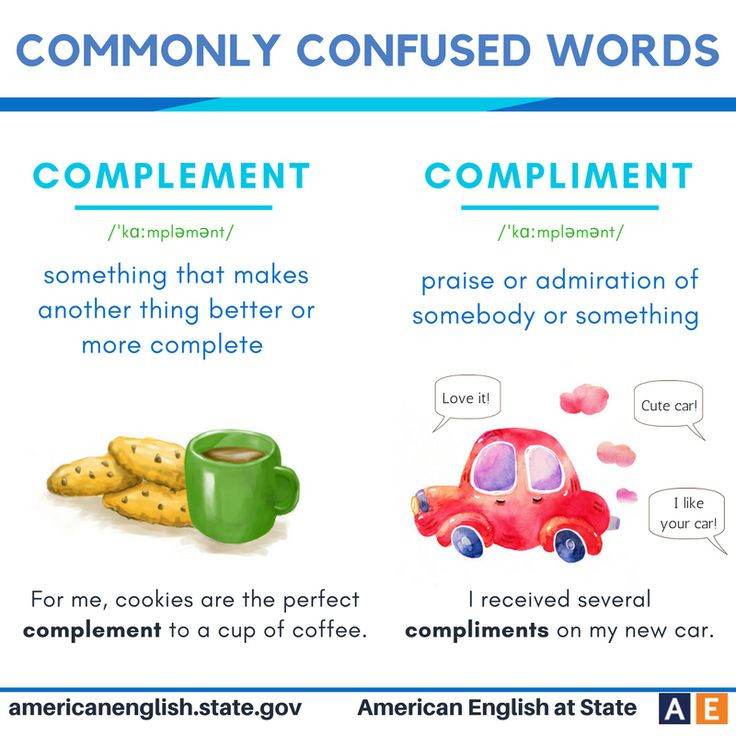 Commonly confused words: Complement vs Compliment