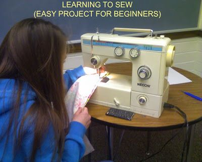 Teach the YW to sew with this basic project. Great for Mutual! LDS Young Women. From the LDS Young Women Activity Idea blog.