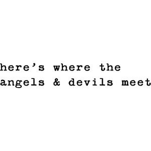 the angels and devils meet at night