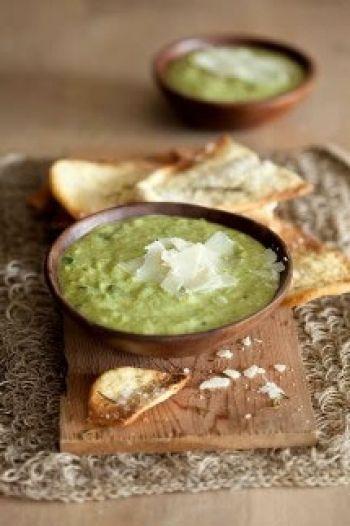 Zucchini and Parmesan Soup recipe on www.nomu.co.za