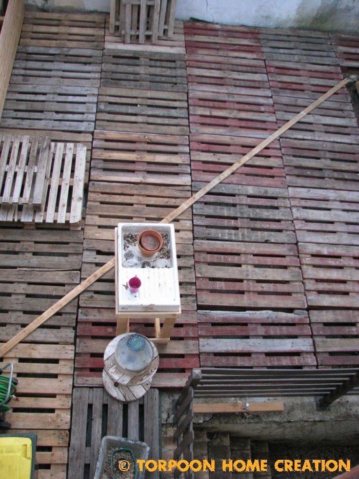 Terrasse en palettes et salon dété  Terrasse en palettes de bois