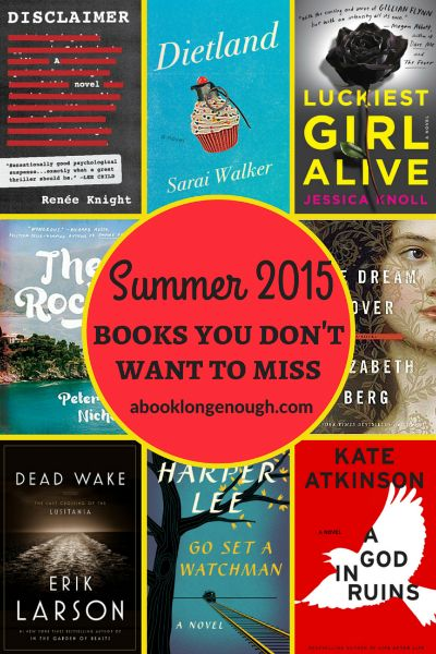 Awesome summer 2015 books for adults! Chosen by a librarian.