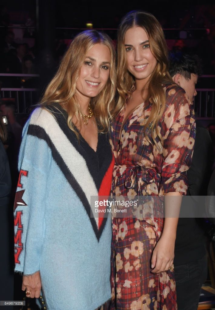 Yasmin Le Bon (L) and Amber Le Bon attend the Tommy Hilfiger TOMMYNOW Fall 2017 Show during London Fashion Week September 2017 at The Roundhouse on September 19, 2017 in London, England.