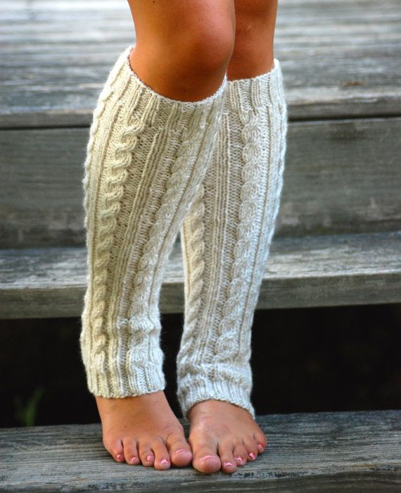 Cable knit leg warmers for women women's leg warmers
