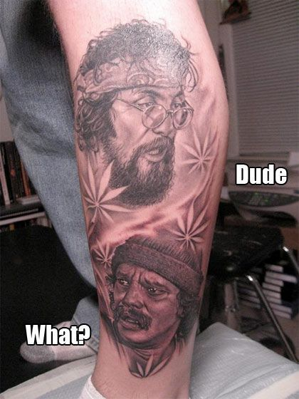 cheech and chong tattoo awesome tattoos pinterest