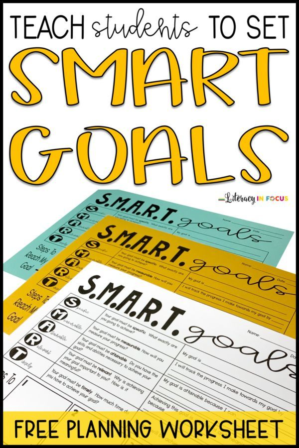 Teaching Students How to Set S.M.A.R.T. Goals Student