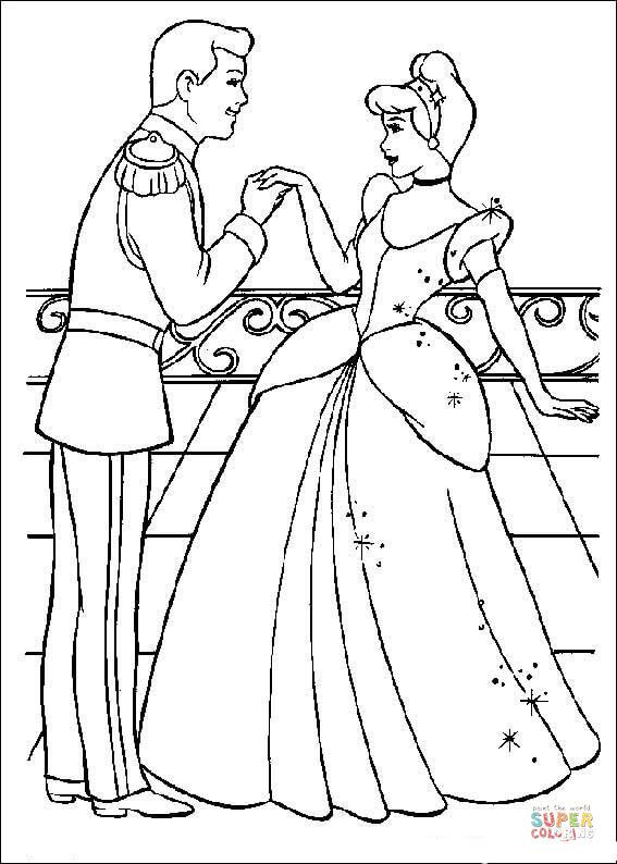 Pin By Coloring Pages On Cinderella Coloring Pages Pinterest