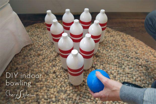 DIY bowling game craft