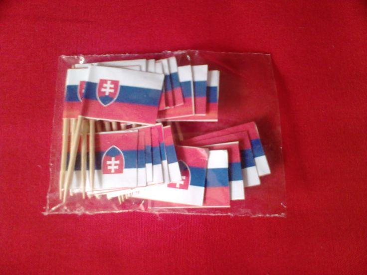slovenské papierové vlajky