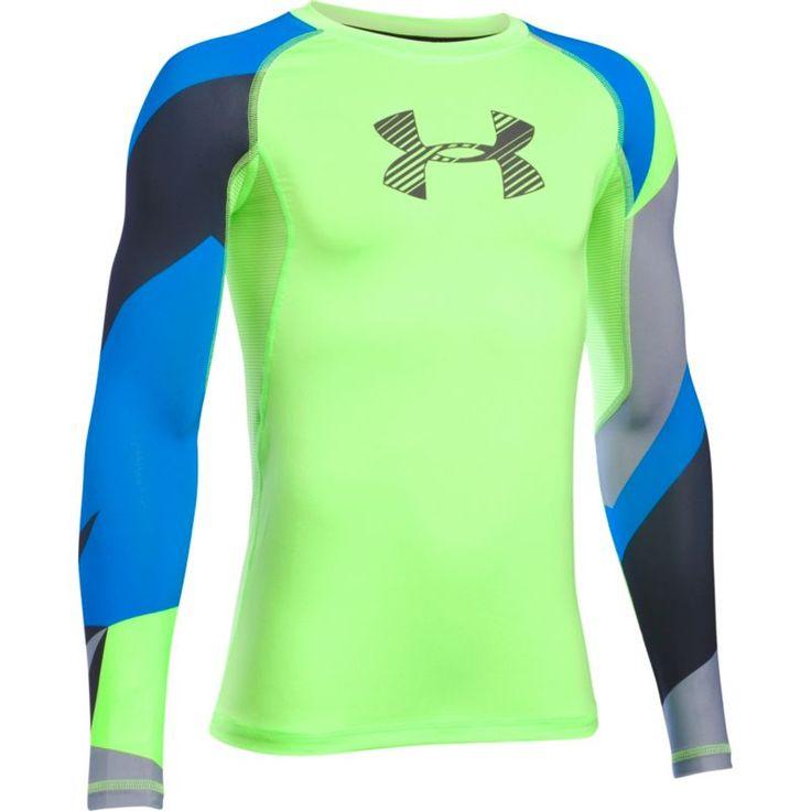 Under Armour Boys' Armour HeatGear Novelty T-Shirt, Size: Medium, Quirkylime/Grey