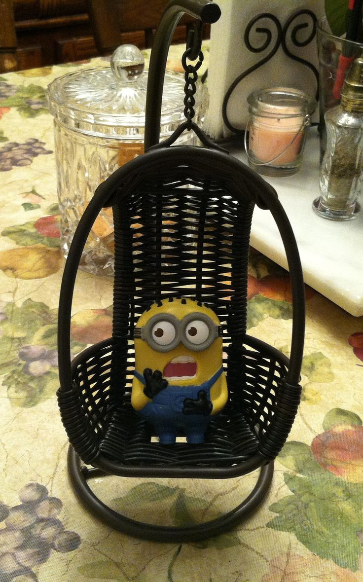 I don't know what the story is behind this Minion, but this is a pretty cute picture, I think.