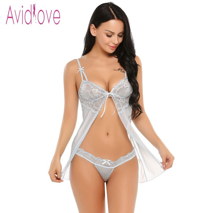 Avidlove Transparent Lace Lingerie Sexy Erotic Hot Women Babydoll Chemise Night Dress #Underwear #Nightwear Sex Costume Intimates #fashion #style #shopping #hipster  #litewear #womenswear   #love   #women #womenfashion #Clothing     #Womensclothing #womenstyle   #fall #out  #outfit #outfits #outfitforwomen #dress #tops #amzone #shirt #sleeve #gift