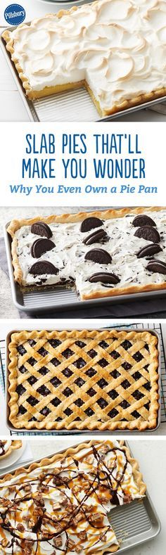 Slab Pies That Will Make You Wonder Why You Even Own a Pie Pan - Who would want a slice of pie when you could have a slab? It's an easy and delicious way to serve dessert to a crowd!