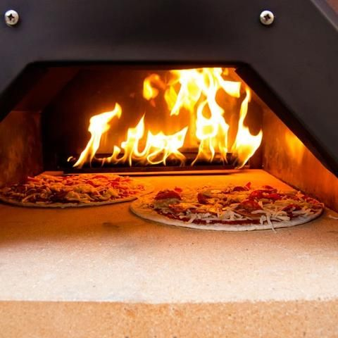 Pizza in Propane Pizza Oven