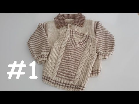 V Yaka Erkek Çocuk Süveteri #2 (Arka ve V Yaka Yapımı) - YouTube