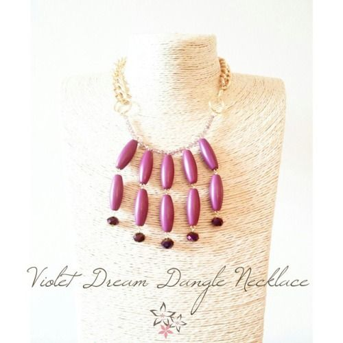 Violet dream dangle handmade necklace ✨ #twiniñas #twininas #jewelry #twininasgr www.twininas.gr & www.twininas.etsy.com