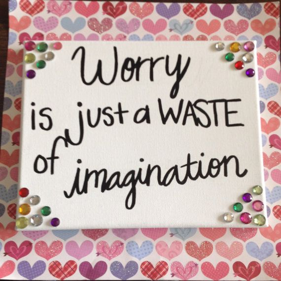 Worry quote Canvas