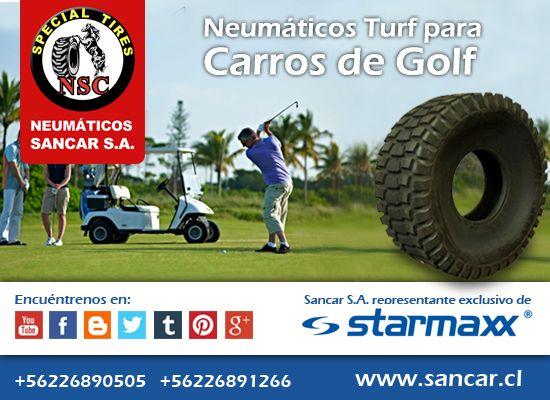 Neumático carro golf - turf  Neumáticos TURF para carros de Golf Representante Exclusivo en Chile de Starmaxx Neumáticos Sancar, Todos en un solo lugar. http://www.sancar.cl/   ventas@sancar.cl   +56226890505   +56226891266