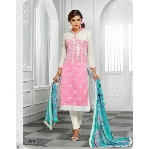 Saiveera New Gorgeous White Pink Chanderi Straight Dress Materials_sv721 Saiveera Fashion is a #Manufacturer Wholesaler,Trader, Popular Dealar and Retailar Of wide Range Salwar Suit, Dress Material, Saree, Lehnga Choli, Bollywood   Collection Replica, and Also Multiple Purpose of Variety Such as Like #Churidar, Patiala, Anarkali, Cotton, Georgette, Net, Cotton, Pure Cotton Dress   Material. For Any Other Query Call/Whatsapp - +91-8469103344.
