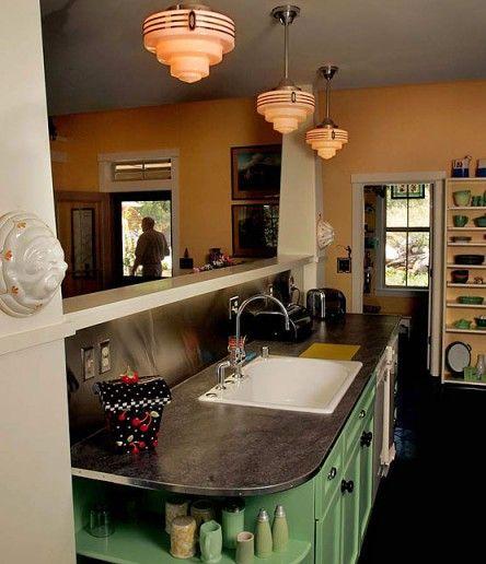 lighting to accent and define diner kitchen kitchen retro kitchen art