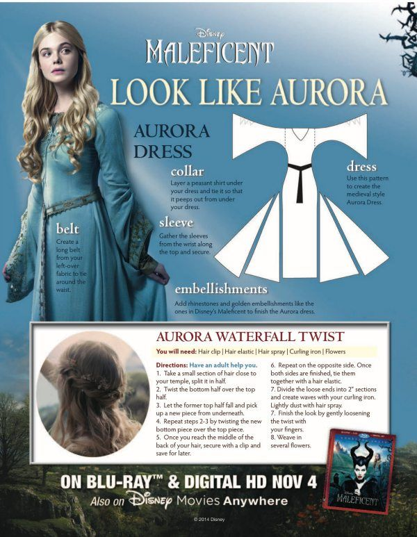 Disney Maleficent Aurora Diy Halloween Costume Printable