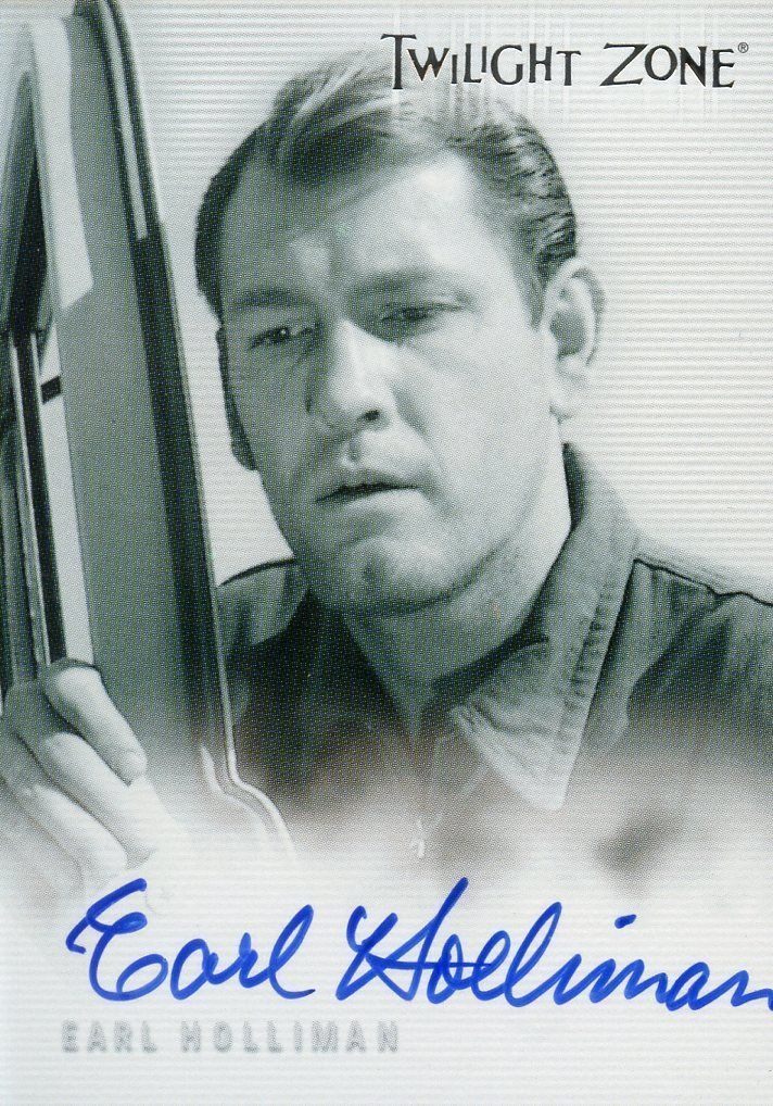 1999 Twilight Zone Earl Holliman Autograph Card Auto A13 | eBay