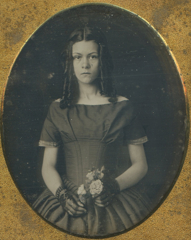 Antique Daguerreotype American Beauty Artistic Ringlet Curls Victorian Photo | eBay